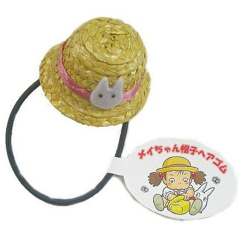 Hair Rubber Band - Ornament - Mei's Hat & Sho Totoro - Natural Straw - Totoro - Ghibli - 2013 (new)
