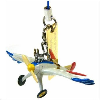 Strap Holder & Hook - Mini Figure - Bird-like Airplane - Wind Rises / Kaze Tachinu - Ghibli - 2013 (new)
