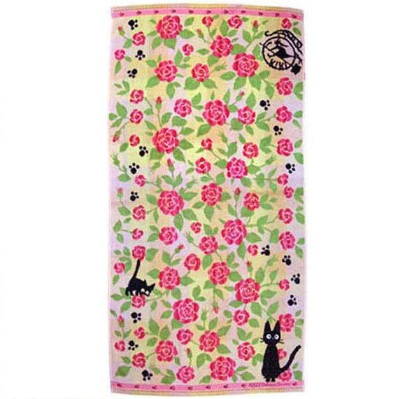Bath Towel 60x120cm Imabari Japan Jacquard Weave Rose Jiji Kiki's Delivery Service 2013 no productio