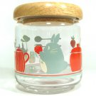 2 left - Glass Container Canister - Natural Wooden Lid - Totoro Ghibli 2011 no production (new)