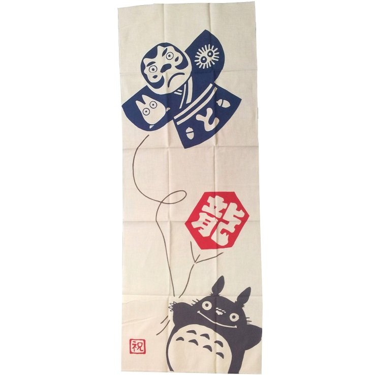 Towel / Tenugui - 33x90cm - Dyed - Kite - Totoro - made Japan - no production (new)