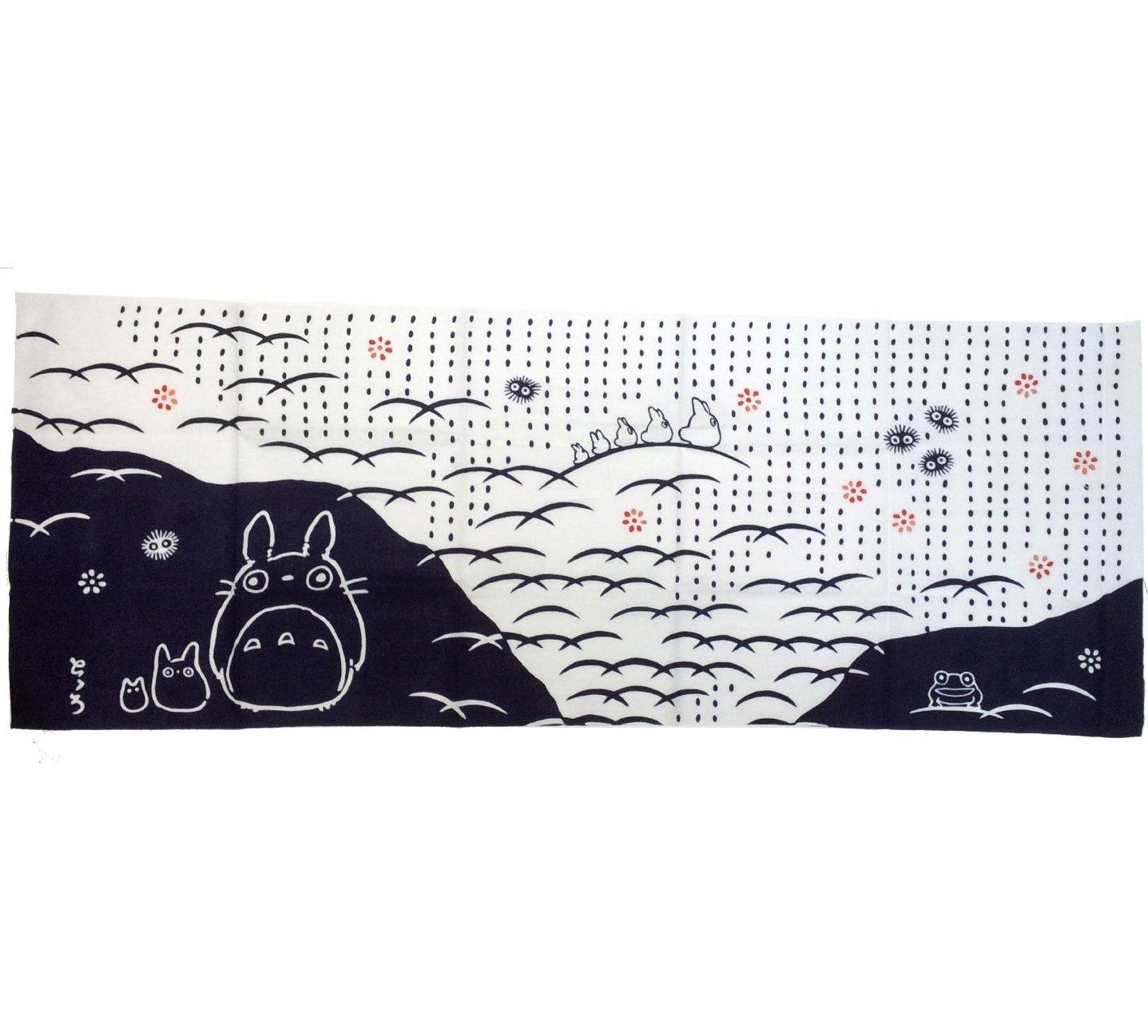 Towel / Tenugui - 33x90cm - Natsushiba - Japanese Dyed Made Japan Totoro Ghibli no production (new)