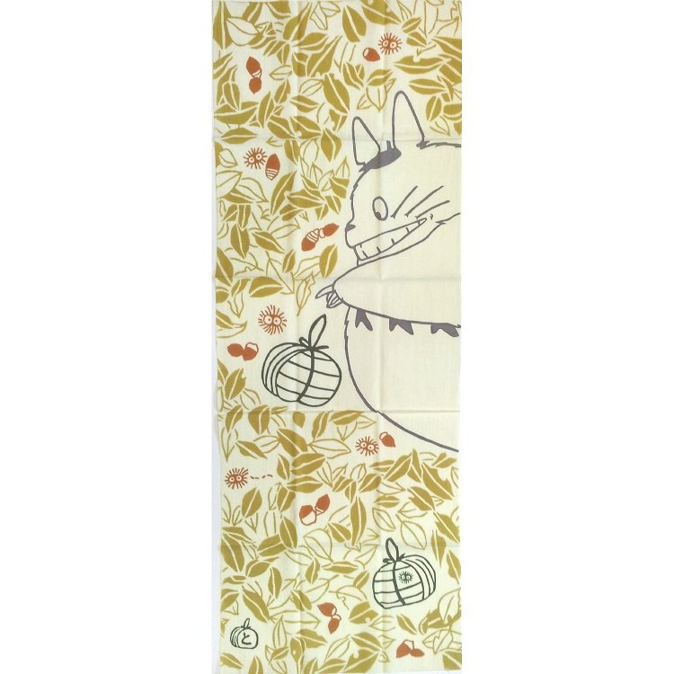 Towel / Tenugui - 33x90cm - Gift - Japanese Dyed Made Japan - Totoro Ghibli no production (new)