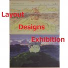 1 left - 2 Postcards - Layout Designs Exhibition - made in Japan - Totoro - no production (new)