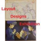 1 left - 2 Postcards - Layout Designs Exhibition - Laputa - Ghibli - no production (new)