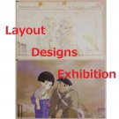 1 left - 2 Postcards - Layout Designs Exhibition - Hotaru no Haka - no production (new)