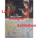 1 left - 2 Postcards - Layout Designs Exhibition - Whisper of the Heart - no production (new)