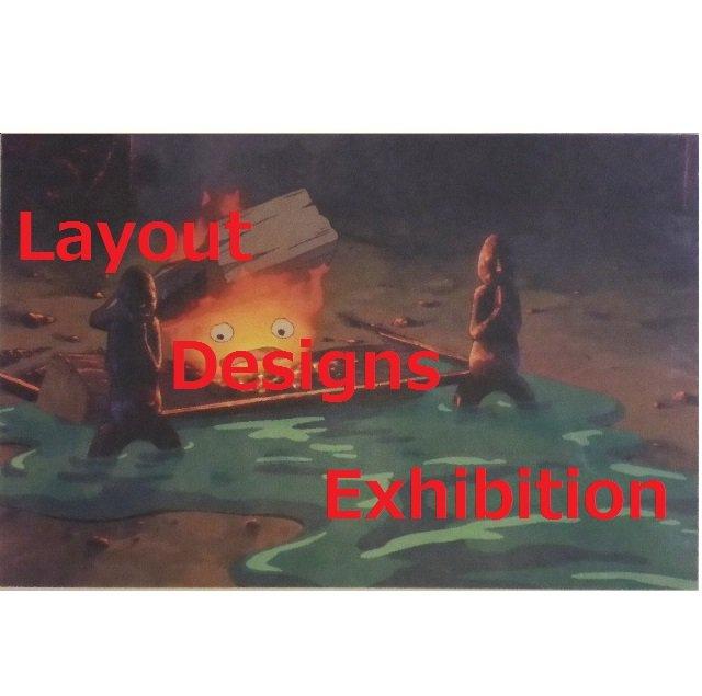 1 left- Postcard - Layout Designs Exhibition - Calcifer - Howl's Moving Castle -no production (new)