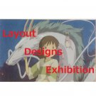 1 left - Postcard - Layout Designs Exhibition -Dragon- Spirited Away - Ghibli - no production (new)