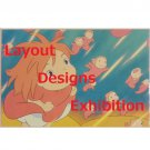 1 left - Postcard - Layout Designs Exhibition - Ponyo Girl - Ghibli - no production (new)
