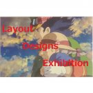 1 left - Postcard - Layout Designs Exhibition - Howl's Moving Castle - Ghibli - no production (new)