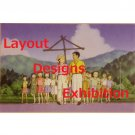 1 left - Postcard - Layout Designs Exhibition - Omoide Poroporo - Ghibli - no production (new)