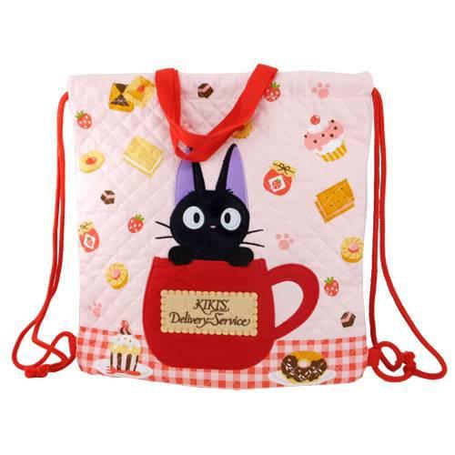 Kinchaku Bag - 35x35cm - Quilt - Jiji Applique - Kiki's Delivery Service - Ghibli - 2013 (new)