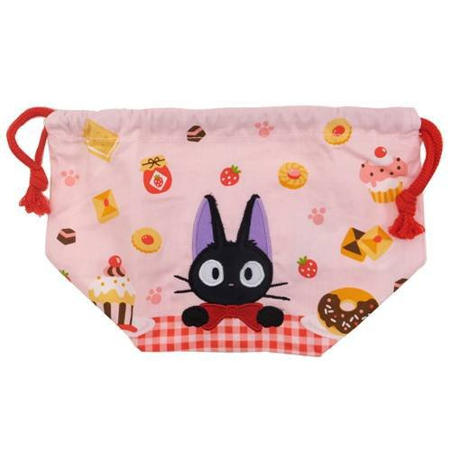 Lunch Kinchaku Bag - 26x12cm - Jiji Applique - Kiki's Delivery Service - Ghibli - 2013 (new)