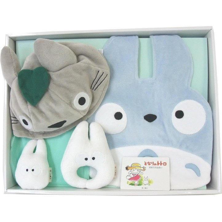 Baby Gift Set - 4 items - Totoro Cap & Baby Bid & Rattle - Totoro - Ghibli - Sun Arrow (new)