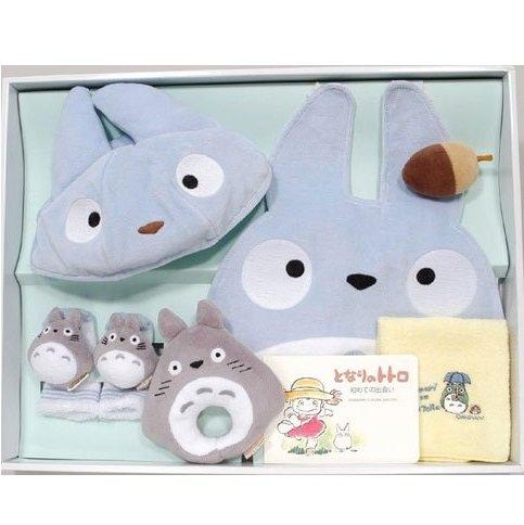 Baby Gift Set - 6 items - Cap & Baby Bid & Rattle & Socks & Towel - Totoro - Sun Arrow (new)