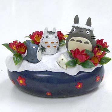 RARE 3 left - Decoration - Winter - Chu Blue & Sho Chibi & Snowman Totoro - Ghibli no production