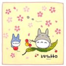 1 left - Handkerchief - 29x29cm - sakura - made in Japan - Totoro - no production (new)