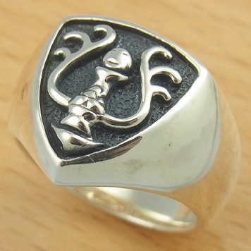 Ring #18 - Sterling Silver 925 -Crest Black-made Japan -Original Ghibli Box- Cominica - Laputa (new)