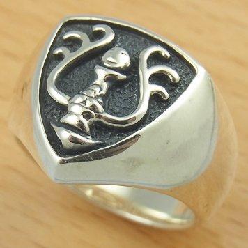 Ring #11 - Sterling Silver 925 -Crest Black-made Japan -Original Ghibli Box- Cominica - Laputa (new)