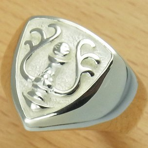 Ring #19 - Sterling Silver 925 -Crest White- made Japan -Original Ghibli Box- Cominica - Laputa (new)