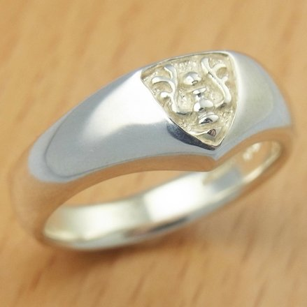 Ring #12 - Sterling Silver 925 -Crest White- made Japan -Original Ghibli Box- Cominica - Laputa (new)