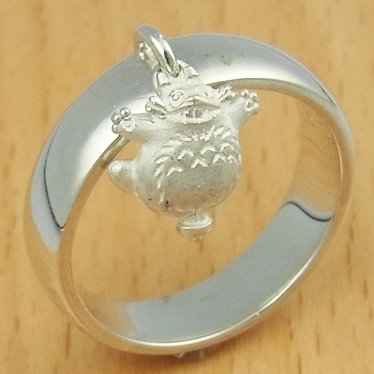 Ring #17 - Sterling Silver 925 - Totoro Charm - Original Ghibli Box - made Japan - Cominica (new)