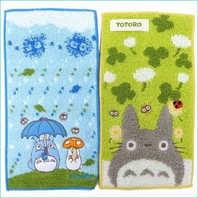 2 Pocket Towel - Embroidery & Applique - Name Tag - Totoro - Ghibli - 2013 (new)