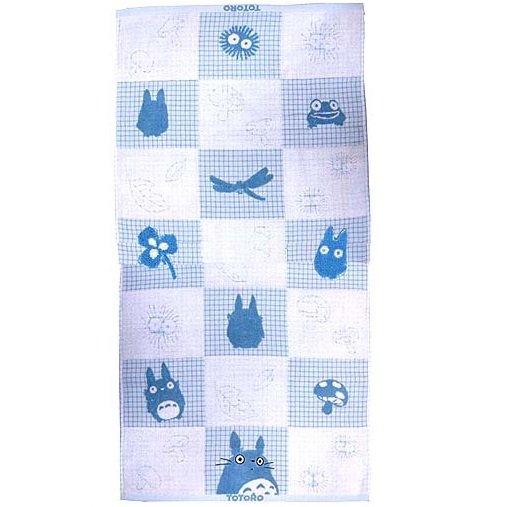 1 left - Bath Towel 60x120cm - Untwisted Thread Jacquard - blue Totoro Ghibli no production