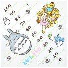 Towel - 90x90cm - 100cm Measurement - Totoro & Chu & Sho & Mei & Konekobus - Ghibli - 2014 (new)