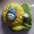 1 left - Button - Dandelion - Totoro - Ghibli -  no production (new)