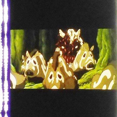1 left - Movie Film #5 - 6 Frames - Wild Boar & Tatarigami - Mononoke - Ghibli (real film)