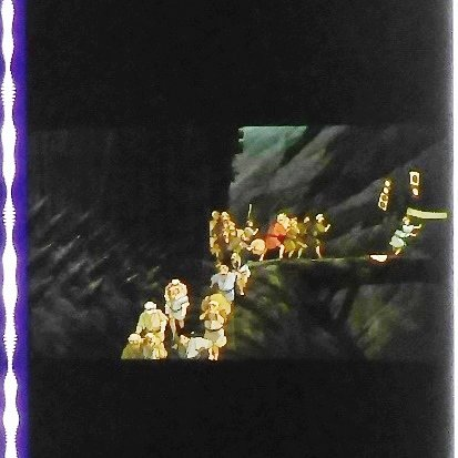 1 left - Movie Film #32 - 6 Frames - Iron Town / Tataraba - Mononoke - Ghibli (real film)