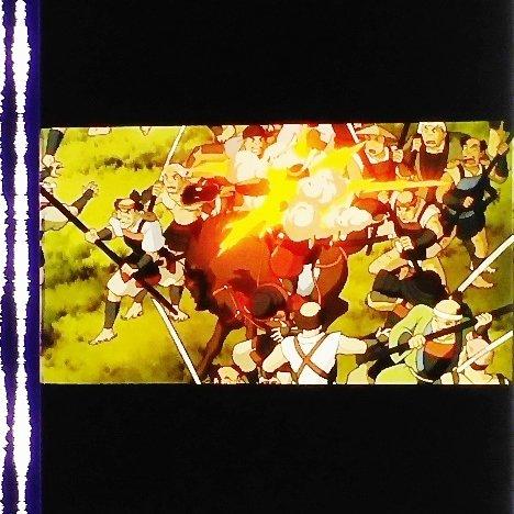 1 left - Movie Film #34 - 6 Frames - Battle - Mononoke - Ghibli (real film)