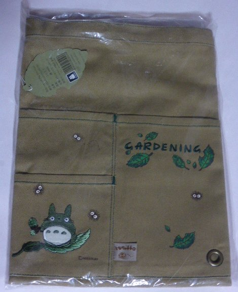 1 left - Short Apron for Gardening - Embroidery - Totoro - Ghibli - out of production (new)