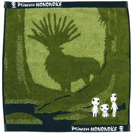 Hand Towel - 34x36cm - Jacquard Weaving - Kodama Glows in Dark & Shishigami - Mononoke - 2014 (new)