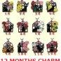 Strap Holder - Bouvardia (November) - Zinc - 12 Months Charm - Jiji - Kiki's Delivery Service - 2014 (new)