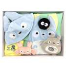Baby Gift Set - 6 items - Cap & Bib & Towel & Rattle - Totoro - Sun Arrow - 2014 (new)