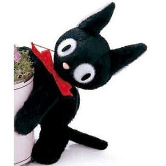 Magnet - Mascot - 13cm - Jiji - Kiki's Delivery Service - Ghibli - Sun Arrow (new)