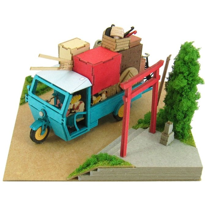 Miniatuart Kit - Mini Paper Craft Kit - Auto Three�Wheeler - Totoro - Ghibli - 2014 (new)