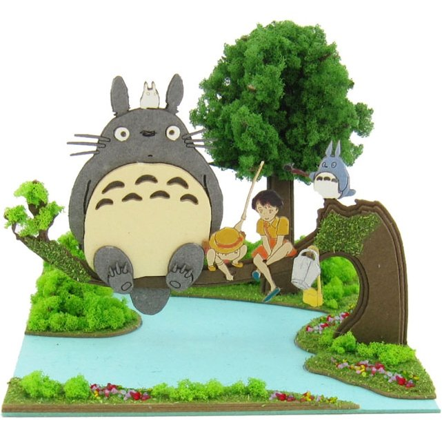 Miniatuart Kit - Mini Paper Craft Kit - Totoro & Chu & Sho & Satsuki & Mei - Ghibli - 2014 (new)