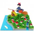 Miniatuart Kit - Mini Paper Craft Kit - Kiki & Jiji on Broom - Kiki's Delivery Service - 2014 (new)