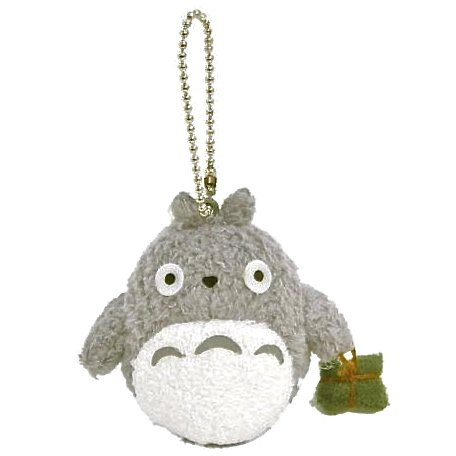 Chain Strap Holder - Fluffy Mascot - Totoro holding Omiyage (gift) - Ghibli - Sun Arrow (new)