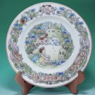 1 left - Yearly Plate 2006 - Wooden Stand - Noritake - made in Japan - Totoro - no production (new)
