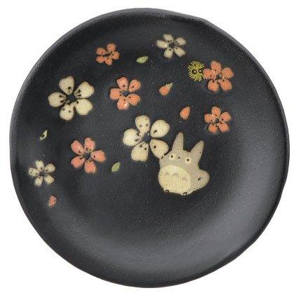 Plate - 14cm - Porcelain - Mino Yaki - made in Japan - Totoro & Sakura - Ghibli - 2015 (new)