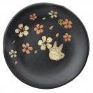 Plate - 14cm - Porcelain - Mino Yaki - made in Japan - Totoro & Sakura - Ghibli 2015 no production