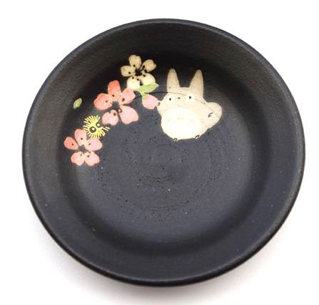 Plate - 11.3cm - Porcelain - Mino Yaki - made in Japan - Totoro & Sakura - Ghibli - 2015 (new)
