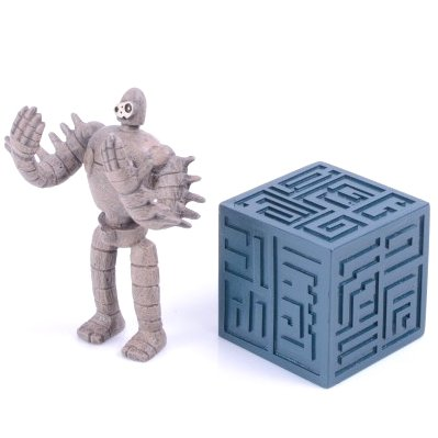 Figure - Build Up Toy - 2 Pieces - Parts A - Tsumutsumu - Robot - Laputa - Ensky - 2015 (new)