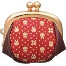 Mini Gamaguchi Wallet Purse -Deer Skin - Handmade in Japan -red- Totoro - Inden - Ghibli -2015 (new)