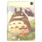 Pass Case - Cowhide - Mei & Sho & Chu & Totoro - Ghibli - 2015 (new)